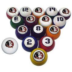 FSU Seminoles Billiard Pool Ball Set