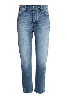 Straight Regular Jeans - Bleu denim - FEMME   H&M FR