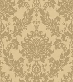 Clara (33891) - Albany Wallpapers - Heavy weight Italian vinyl with a traditional damask design, with a stylised pineapple motif created with a raised dot texture on lustrous fabric background. Shown in the sand beige on cream. Please ask for sample for true colour match.