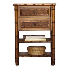Tommy Bahama Home - Ginger Island Bedside Chest - Two drawers.  I don't think this rattan would go with our bed.