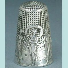 one of a kind thimbles | Antique Dance of the Graces Silver Thimble w/ Waffle Knurling * French ...