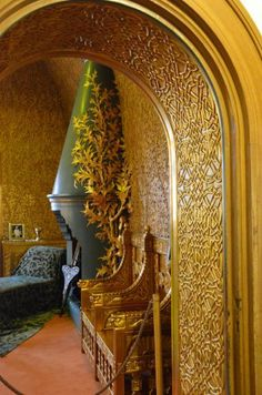 Golden Room in Pelisor Castle in Romania