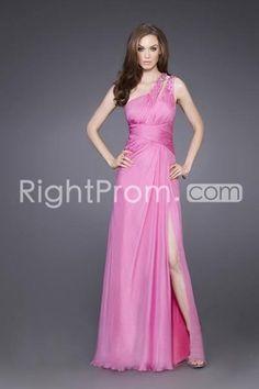 US $147.39 Nice Empire One Shoulder Floor-length A-Line Evening Dress