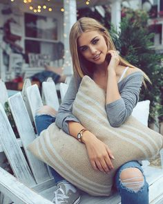 "Marina Laswick - ""Cottage feels // What's your favorite Summer activity? ☀"""