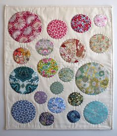 Mini Quilt of the Month- February: Liberty of London Tana Lawn Cicular Applique - The Purl Bee - Knitting Crochet Sewing Embroidery Crafts Patterns and Ideas!