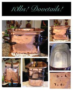 10lb French Antique Copper Daubiere Braising Box Roaster Recessed Lid Dovetails | eBay