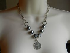 French Coin Necklace by GypsyGirlDesignsShop on Etsy, $30.00