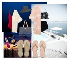"""swim"" by coolkalpana on Polyvore featuring Clinique, Do Everything In Love, Serge Lutens, Havaianas, Sun N' Sand and Scala"