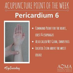 #TipTuesday: #Acupuncture Point of the Week, Pericardium 6!#integrativelife