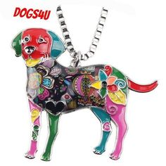 Cheap fashion jewelry, Buy Quality jewelry fashion directly from China jewelry women Suppliers: Bonsny Statement Maxi Alloy Enamel Labrador Dog Choker Necklace Chain Pendant Collar 2017 Fashion New Enamel Jewelry Women Dog Necklace, Necklace Types, Necklace Chain, Pendant Necklace, Necklaces, Dog Lover Gifts, Dog Lovers, Pug, Dachshund Dog