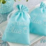 Something Blue Muslin Favor Bags (Set of 12)