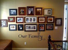 Something like this, but only black & white pics, no words on the wall (pics are worth all the words)
