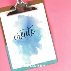 How to Make Watercolor Backgrounds with this Easy Hack #darbysmart #diy #watercolor #hacks