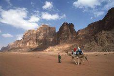 Camel Riding at Wadi Rum, jordan
