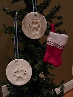 Pet Christmas Ornaments I really wish i would have seen this idea before our puppy passed away To cute