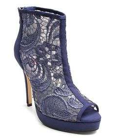 Loving this Blue Lace Sensual Bootie on #zulily! #zulilyfinds
