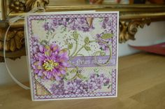 Spring card with Graphic 45 papers