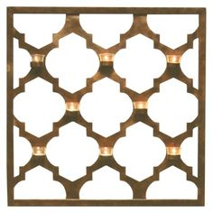 Large Tealight Holder - Copper Quatrefoil