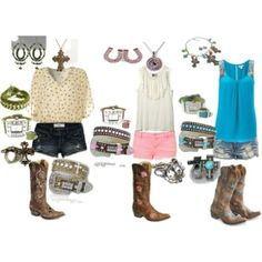 really cute outfits to go with boots so my style! Cute Country Outfits, Really Cute Outfits, Country Girl Style, Country Fashion, Country Chic, Country Bumpkin, Southern Outfits, Country Strong, Country Women