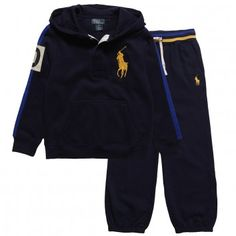 6b9c0c3d7c16 Ralph Lauren Boys Navy Blue Jersey Tracksuit at Childrensalon.com