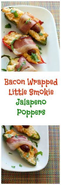 way to spice up game day? These bacon wrapped Lit'l Smokies Smoked ...