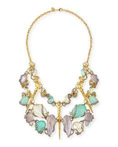 Alexis Bittar Elements Rocky Vine Bib Necklace