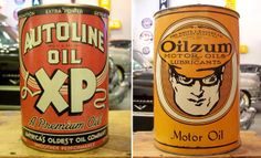 Retro Oil Cans