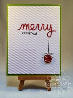 Simple and clever Christmas card, designed by A Muse Studio Consultant, Chelsea Comer. She's got tons more clever ideas on her blog. Check it out!