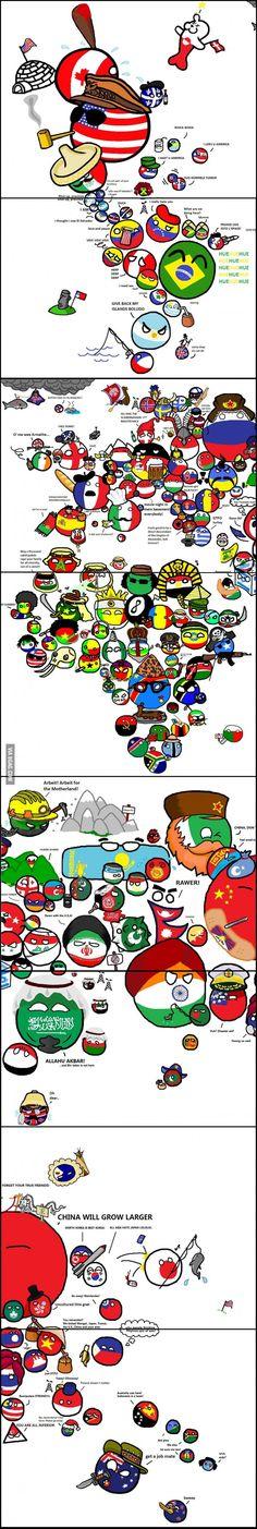 Polandball World Map