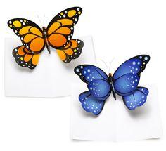DIY: Make a pop up butterfly card.