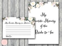 My Favorite Memory of the Bride to-be Memory Lane by BrideandBows