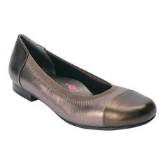 Women's Ros Hommerson Rebecca Cap Toe Flat (Silver) Leather/Patent Leather (US Women's 6 S (Narrow))