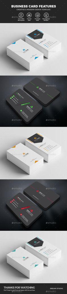 Business Card Bundle 2 IN 1 #BusinessCard #cards #PrintTemplate #CardDesign #BestDesignResources