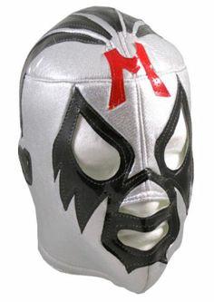 Mil Mascaras Pro Fit Adult Lucha Libre Wrestling Costume Mask Silver | eBay