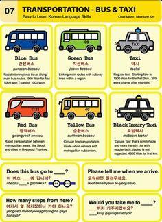 Learning Korean - Transportation, Bus & Taxi