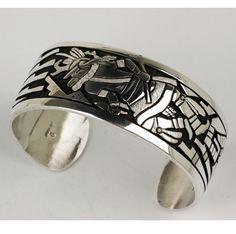 Joe Josytewa – Sterling Silver Cuff Bracelet