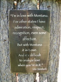 John Steinbeck I'm In Love With Montana Sign by BearlyInMontana, $45.00
