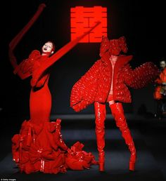 Designer Hu Sheguang is known for his outlandish creations and his last China Fashion Week presentation was equally ghoulish