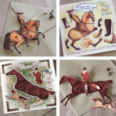 Dark Horse Studio's equestrian greeting cards that can be turned into paper horse puppets on Cavalcade