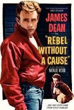 James Dean in Rebel Without a Cause, Natalie Wood, film, movie. Old Movie Posters, Classic Movie Posters, Cinema Posters, Film Posters, Classic Movies, Vintage Posters, Art Posters, Poster Prints, Illustrations Posters
