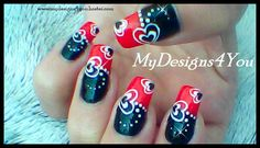 AWESOME BLACK RED AND WHITE VALENTINE'S DAY NAIL ART, HOW TO- ♥ MyDesign...