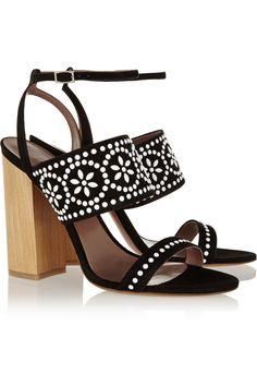 Tabitha Simmons|Blaze embellished suede sandals|NET-A-PORTER.COM