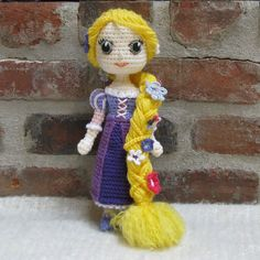 CROCHET PATTERN - Rapunzel from the movie 'Tangled'
