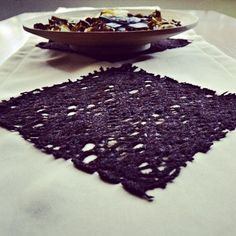 Cream Table Runner with Brown Lace Embellishment by BizimFlowers