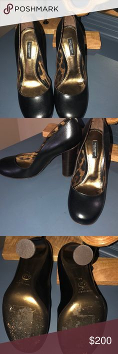 Dolce  amp  Gabbana black heels Great pair of used Dolce  amp  Gabbana heels . 9ce72c7700d3