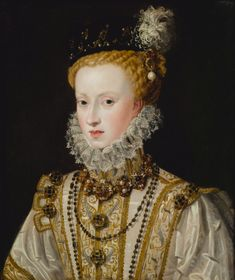 1578 Attributed to Alonso Sánchez Coello - Anne of Austria Renaissance Portraits, Renaissance Paintings, Renaissance Art, Renaissance Clothing, European History, Women In History, Historical Costume, Historical Clothing, Fashion History