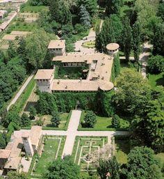 Castello e giardino Grazzano Visconti,  Vigolzone,  Piacenza, Emilia Romagna