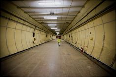 (Unnamed) Tunnels beneath London...Originally built to be a bomb shelter, it is immaculately kept and currently unoccupied. I want to go.