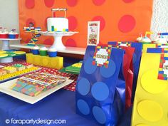 Fara Party Design Ideas DIY Fiestas Decoracion Estilo de vida: Fiestas- Cumpleaños de Lego