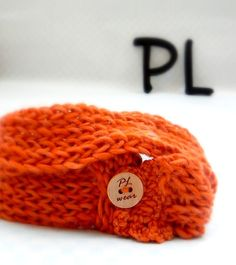 Knit and crochet spicy orange double layered neck warmer by PLwear, $24.00